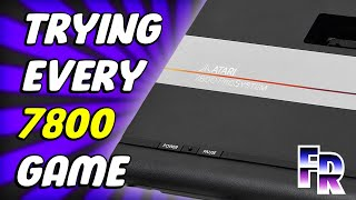 Atari 7800 (1986) Library | Trying all 58 Games