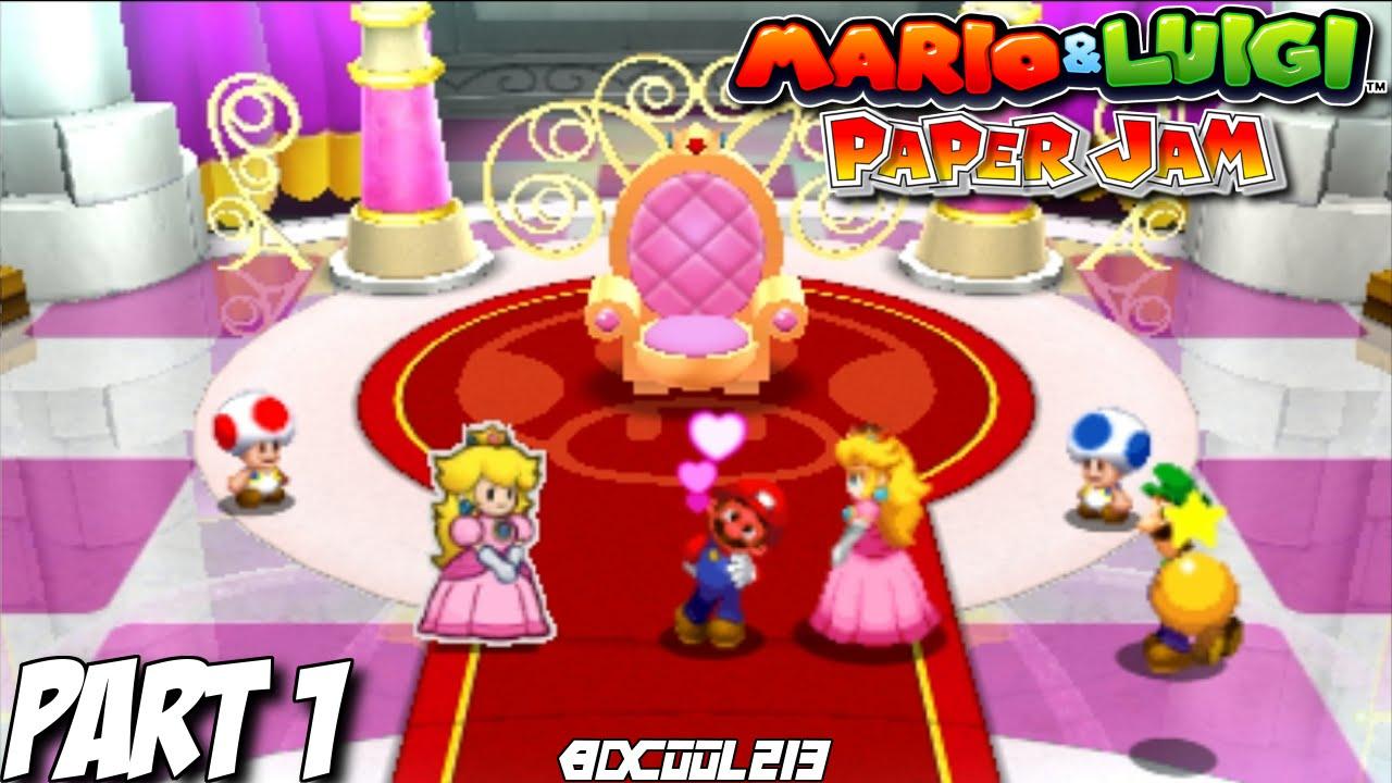 Our World Mario Luigi Paper Jam 3ds