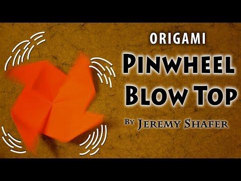 Origami Pinwheel Base Blow Spinner