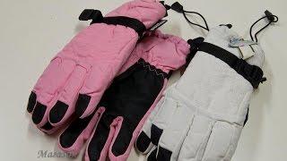 Женские+Мужские краги перчатки лыжные Америка. Обзор 105