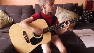 """Алексей 11 лет, ученик """"Школы игры на гитаре Шульги Юрия"""". Nirvana - Smells like teens spirit."""