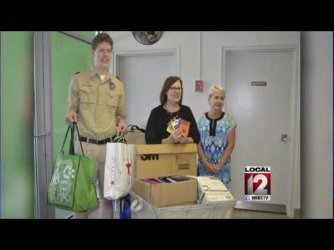 Aspiring Eagle Scout collects school supplies for hundreds of children