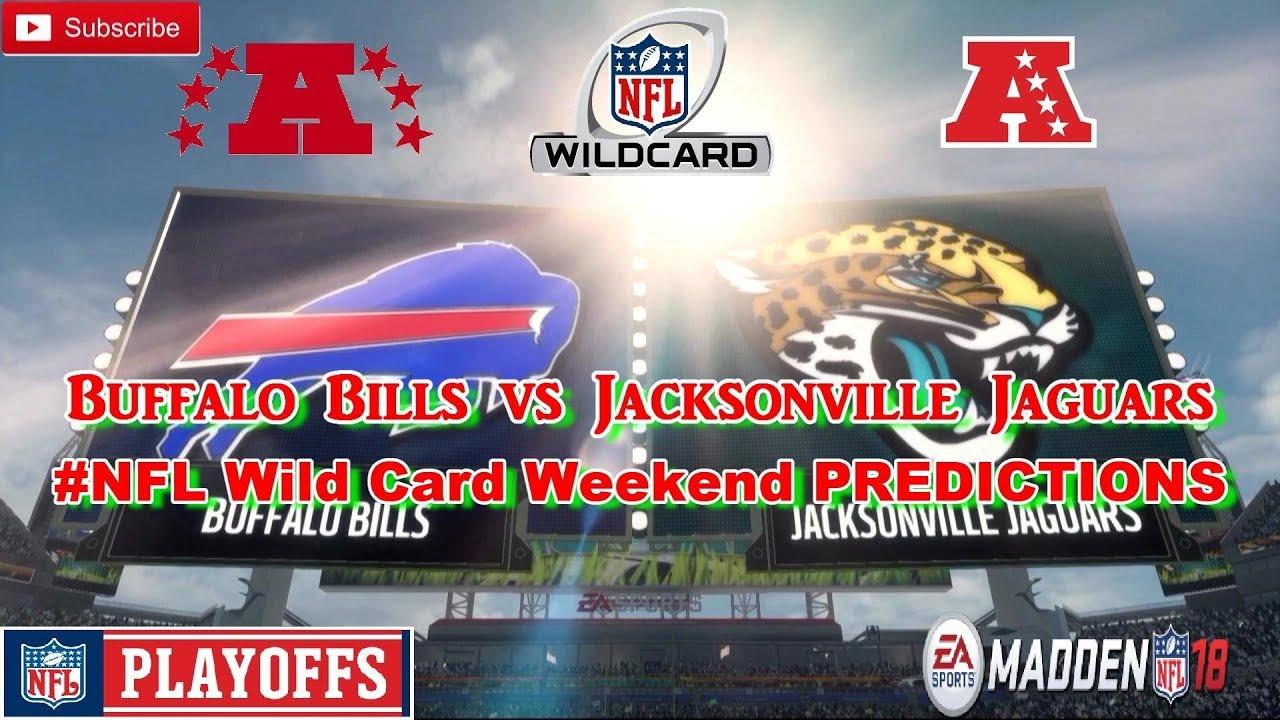 e974a2e4 Buffalo Bills vs Jacksonville Jaguars | #NFL Playoffs Wild Card Weekend |  Predictions Madden 18