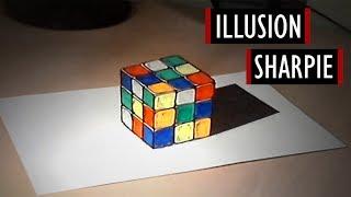 Anamorphic Illusion - Sharpie #4 [Kocham Rysować]
