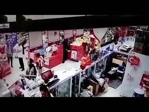 Videos de robo a Sao Supertiendas Olímpica  de Valledupar.