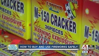How to buy and use fireworks safely