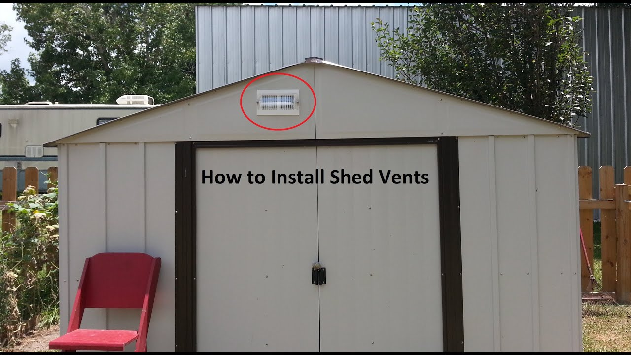 Garden Sheds Installed how to vent a shed diy stepstep - youtube