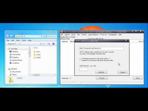 Download and Convert HTTP Files to PDF using Batch Document Converter Pro