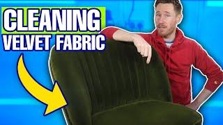 How To Clean Velvet Upholstery & Velvet Fabric | Satisfying Velvet Upholstery Cleaning