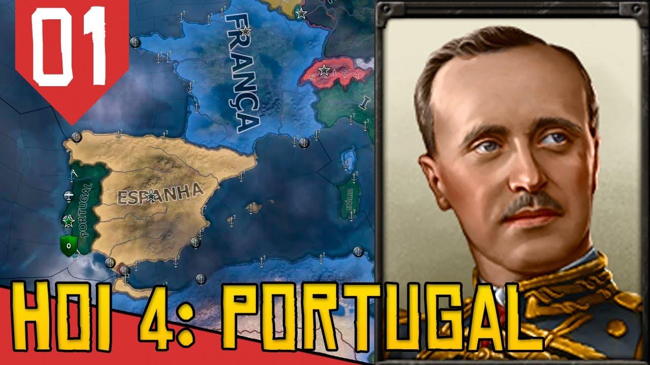 Volta do MAIOR JOGO DE ESTRATÉGIA MILITAR do Mundo!- Hearts of Iron 4 Portugal #01 [Português PT-BR]