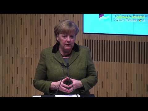 Chancellor Angela Merkel and Prime Minister Stefan Löfven open the German-Swedish TechForum at IVA