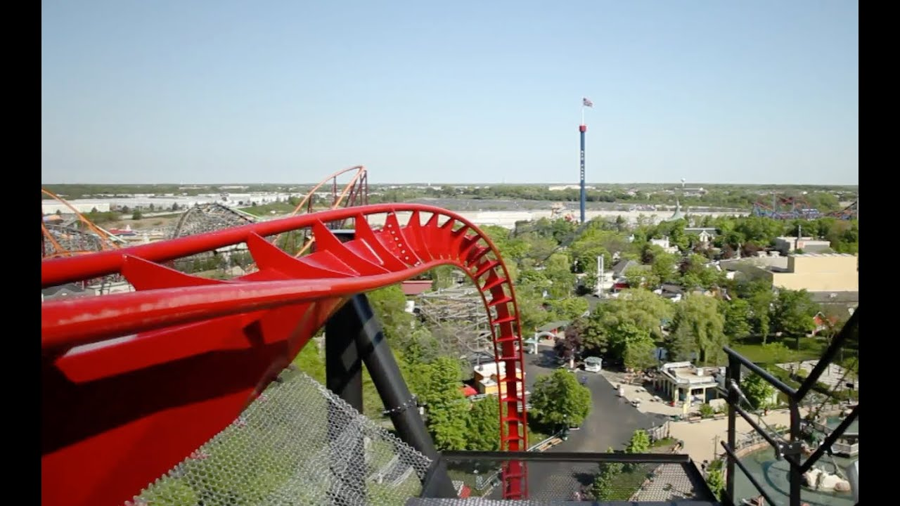 X Flight Pov Front Seat Right Side Six Flags Great America