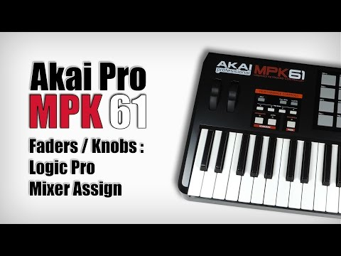 Akai MPK Faders / Knobs : Asign in Logic Pro Mixer