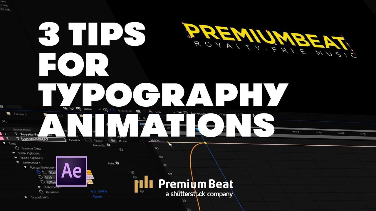 3 Typography Tips | PremiumBeat com