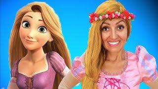 Princess Rapunzel in the House! Dress up & Makeup by Super Elsa
