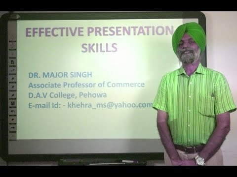 Effective Presentation Skills in Hindi under E-Learning Program