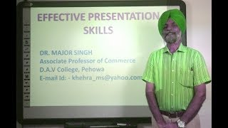 Effective Presentation Skills in Hindi under E-Learning Program