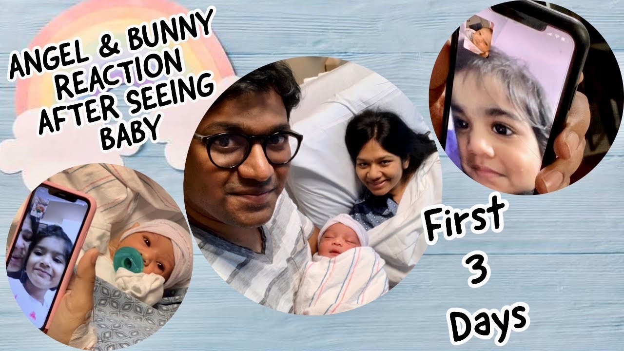 #Vlog | First 3 days with a Newborn | Angel and Bunny's reaction | Telugu Vlogs from USA