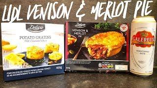 Lidl Galereux Lager With Lidl Deluxe Venison & Merlot Pie & Lidl Deluxe Potato Gratins With Emmental