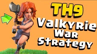 """TH9 BEST """"VALKYRIE"""" WAR ATTACK STRATEGY 2017 