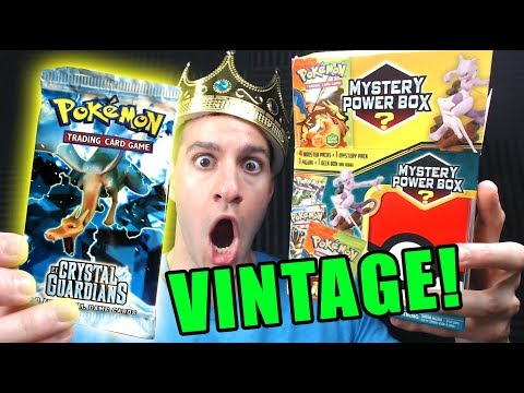 VINTAGE PACK PULLED! - Pokemon Cards Opening a NEW MYSTERY POWER BOX from WALMART!