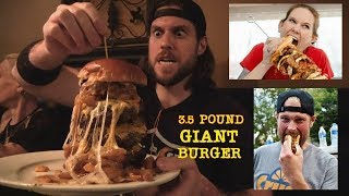 "3.5 Pound CheeseBurger Challenge (Feat. ""Human Garbage Disposal"" Molly Schuyler & Dan Kennedy)"