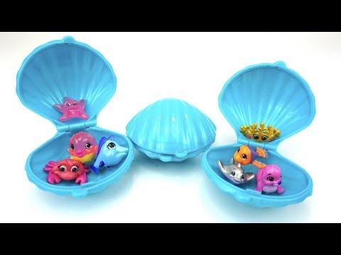 Сюрпризы и игрушки в ракушках. Видео для детеи. Детскии Канал. Игрушкин ТВ