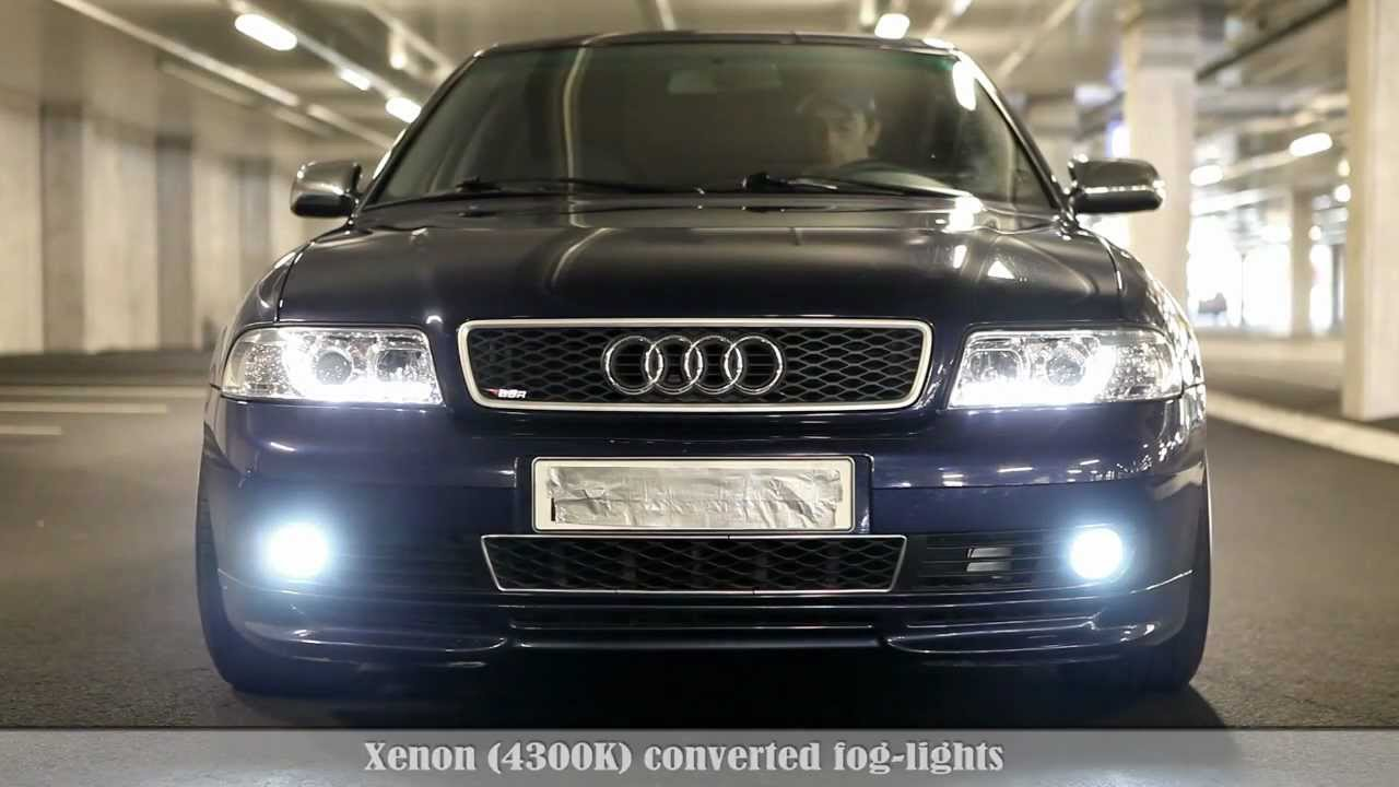Audi A4 B5 - LED/Xenon kit demonstration Vol2 NEW - YouTube