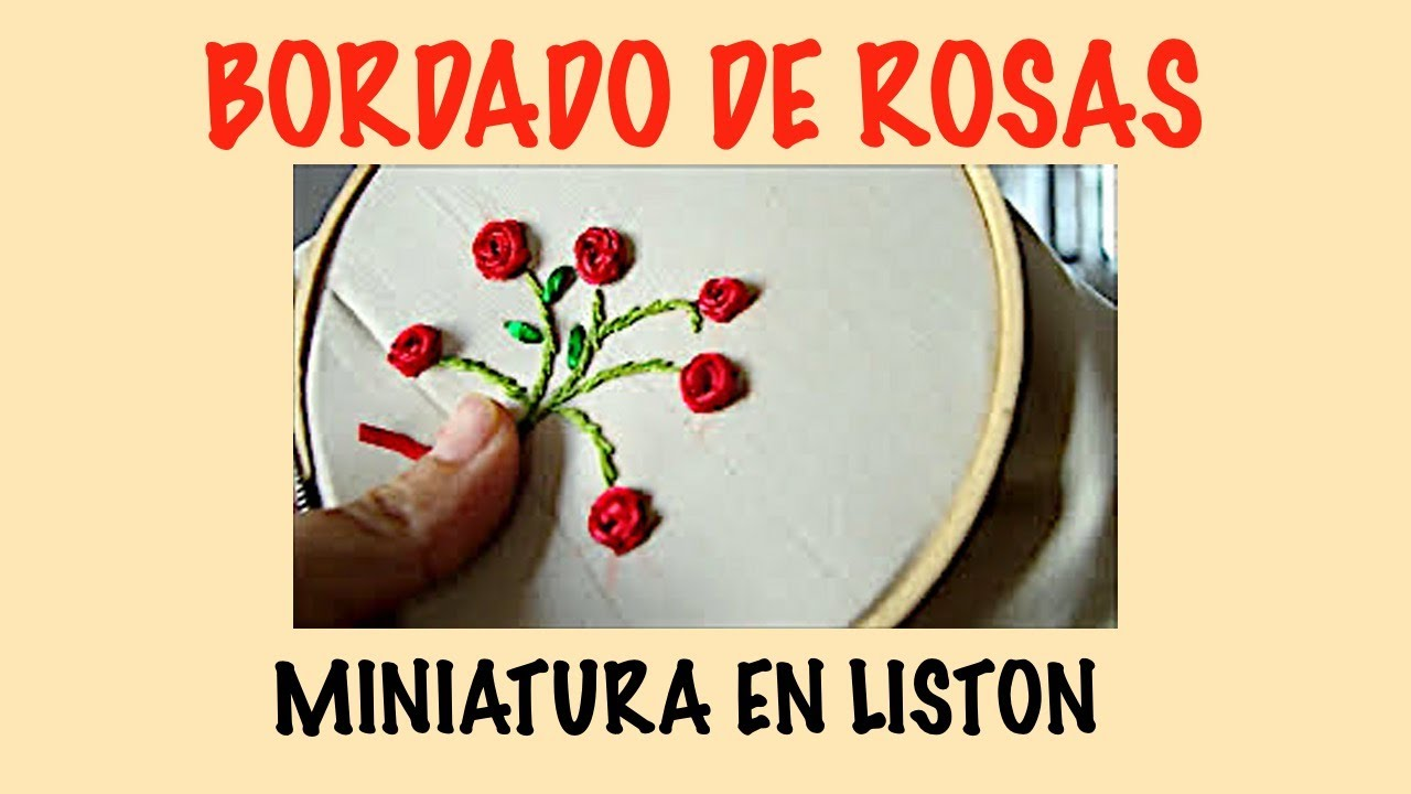 Bordado De Rosas En Liston Youtube