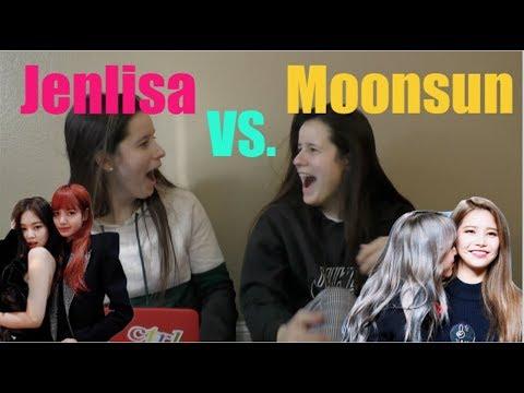 NON KPOP FANS REACT TO JENLISA VS MOONSUN 블랙핑크 마마무