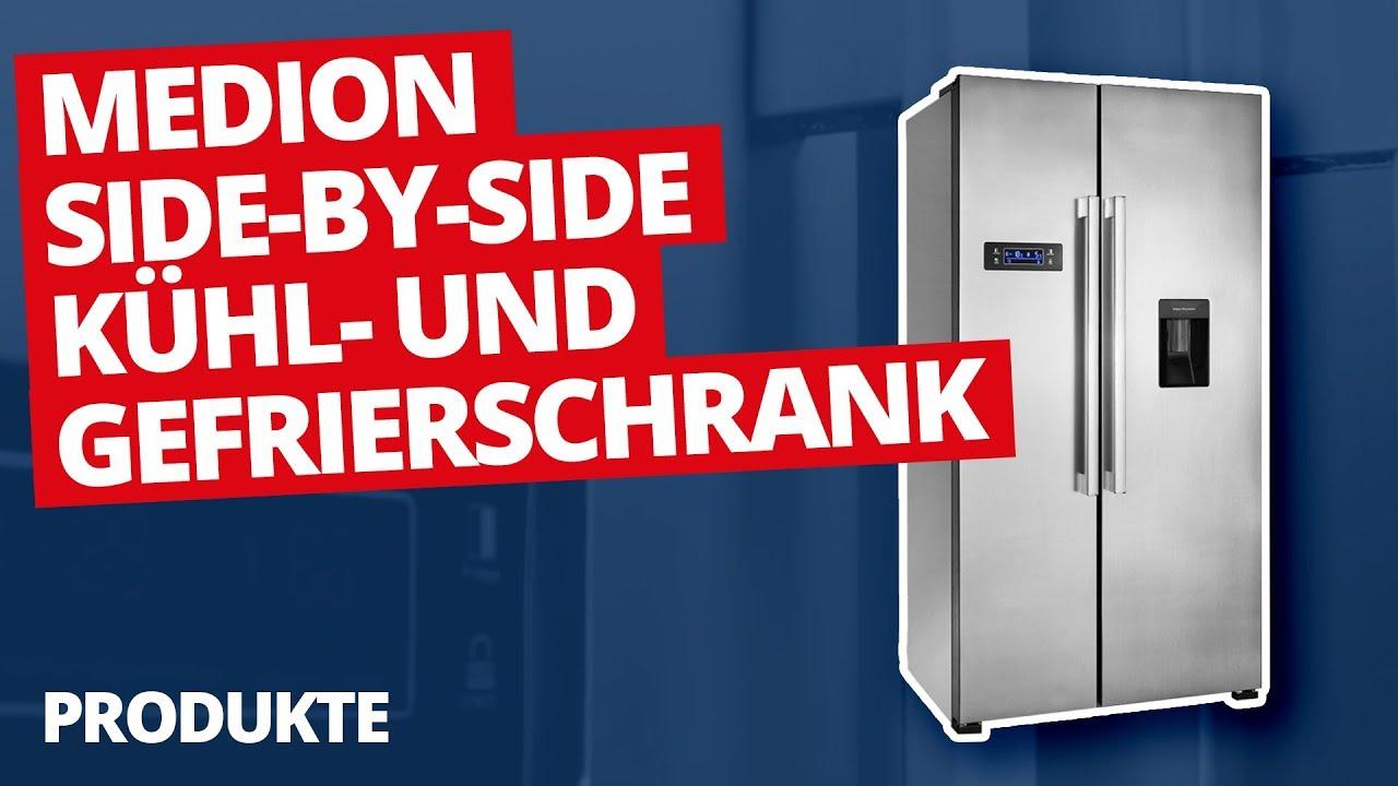 Side-by-Side Kühl- und Gefrierschrank | MEDION - YouTube