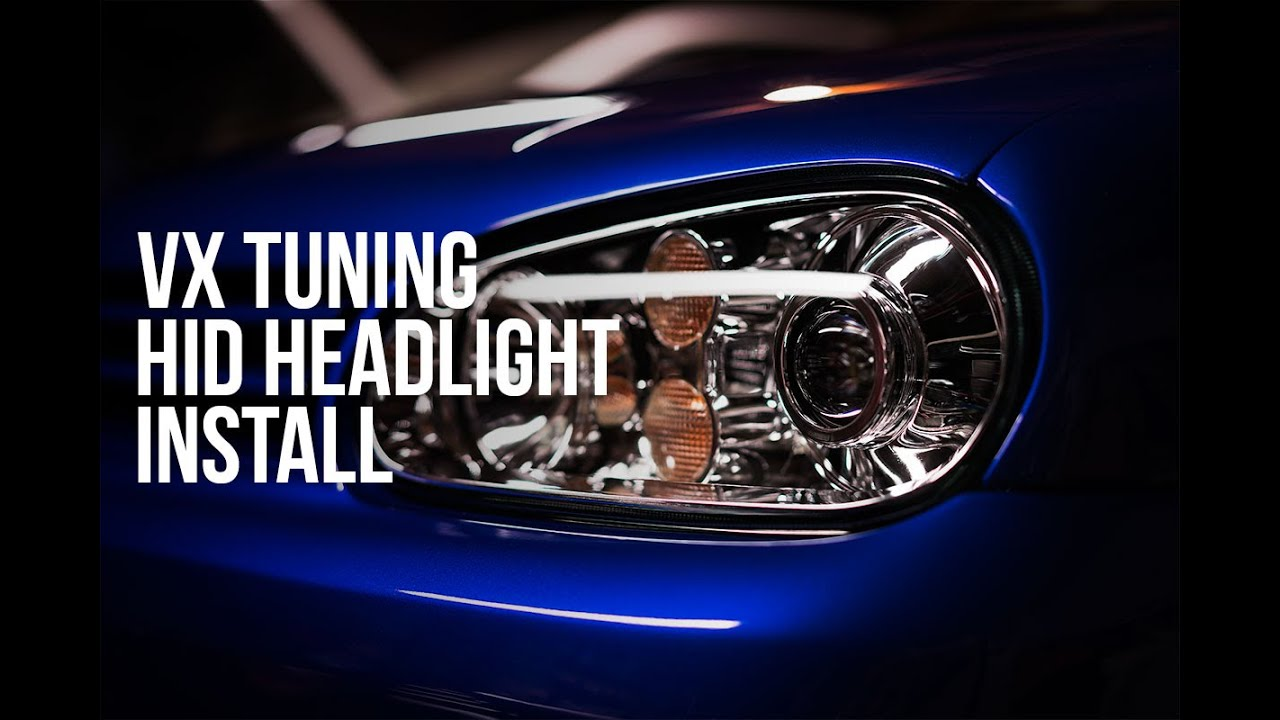 VW Bora Headlights Replacement and MK4 Golf Projector - VXTuning