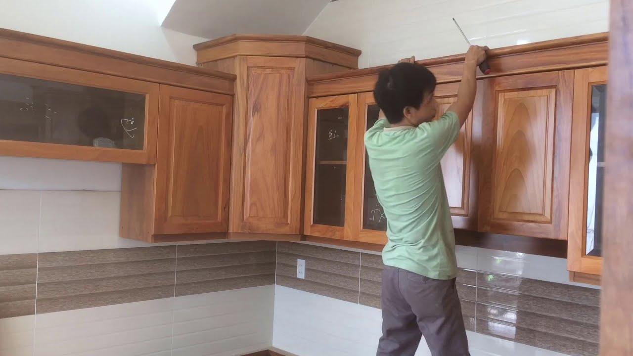 Tủ bếp đẹp/mẫu tủ bếp đẹp số 1/tủ bếp góc xéo/tủ bếp gỗ tự nhiên