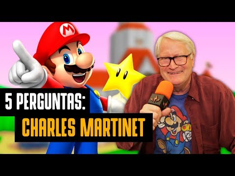 CINCO PERGUNTAS PARA CHARLES MARTINET, A VOZ DO MARIO