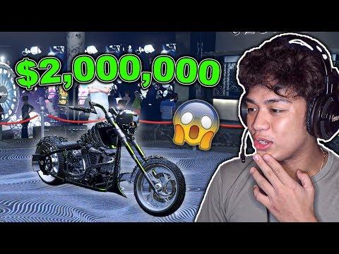 My NEW $2,000,000 Ghost Rider Motorcycle sa GTA 5 ONLINE (solid na motor to)