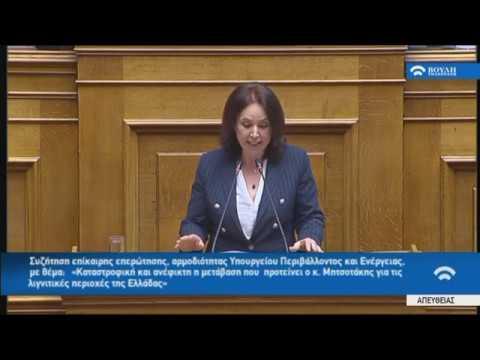 Ομιλία στη Βουλή κατά τη συζήτηση επίκαιρης επερώτησης που κατέθεσαν 61 Βουλευτές του ΣΥΡΙΖΑ (video)