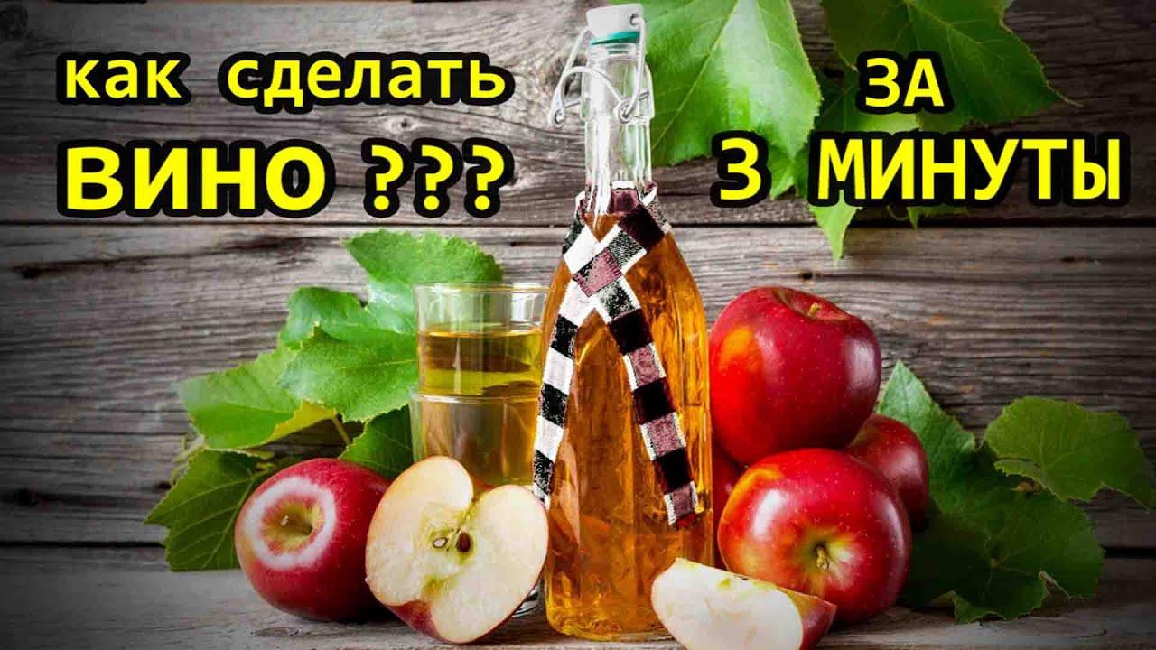 Как приготовит вино из яблоки в домашних условиях 858