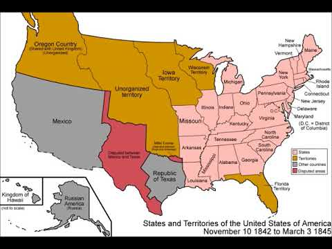 Map of the United States from 1789 to today, set to