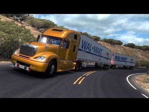 PRODUCTOS DE WAL MART!!  | DOBLE REMOLQUE!!  | 50 TONS  |  FREIGHTLINER COLUMBIA  |  VIVA MEXICO