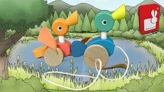 Janod Duck Family Pull-Along Toy from Janod