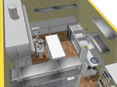 Dise o cocina villa vacacional la albuera youtube - Diseno cocina industrial ...