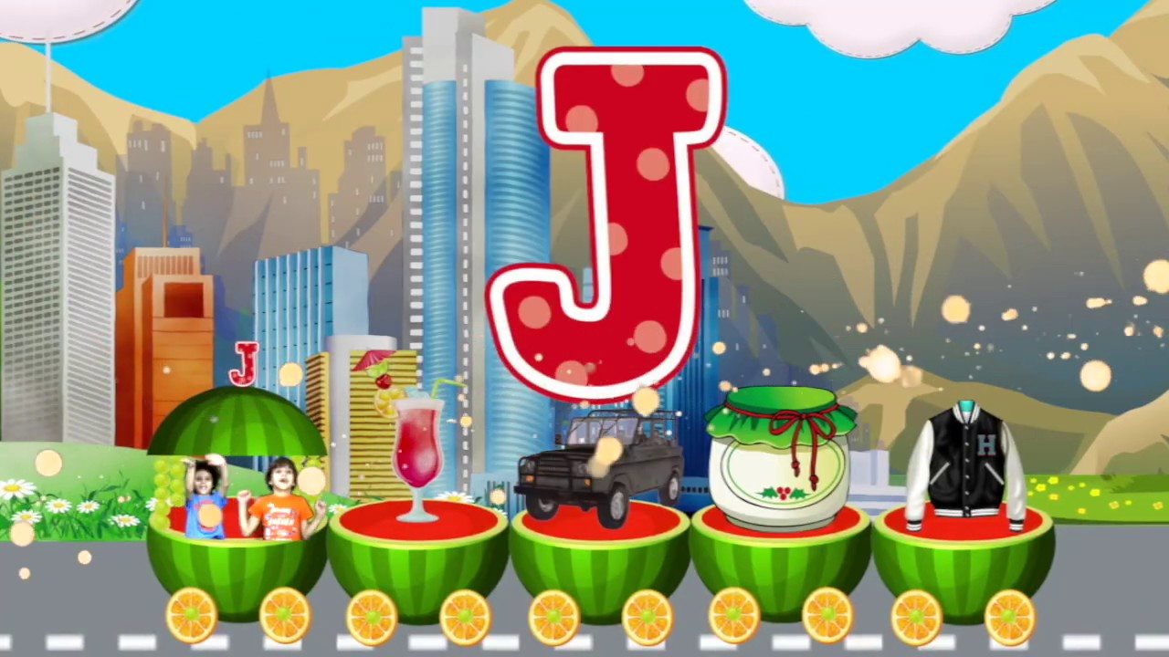 Learn ABC | Watermelon Train | Learning Videos For Children | Letter J | Andrew Max Show