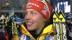 15.02.2013 Biathlon WM Nove Mesto Staffel/Relay Winner Norwegen/Norway +1st cap Laura Dahlmeier/ger!