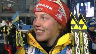 15.02.2013 Biathlon WM Nove Mesto Staffel/Relay Winner Norwegen/Norway +1st cap Laura Dahlmeier/ger!