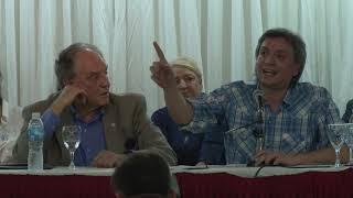 Discurso de Máximo Kirchner, en acto por la Unidad junto a Carlos Heller