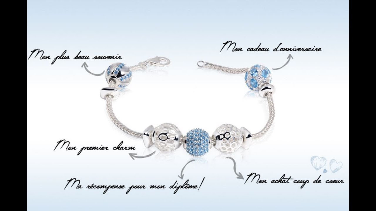 cr er un bracelet avec charms youtube