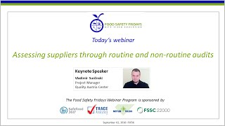 Assessing suppliers through routine and non-routine audits