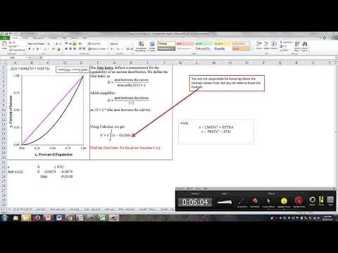 Lorenz Curve and Gini Index