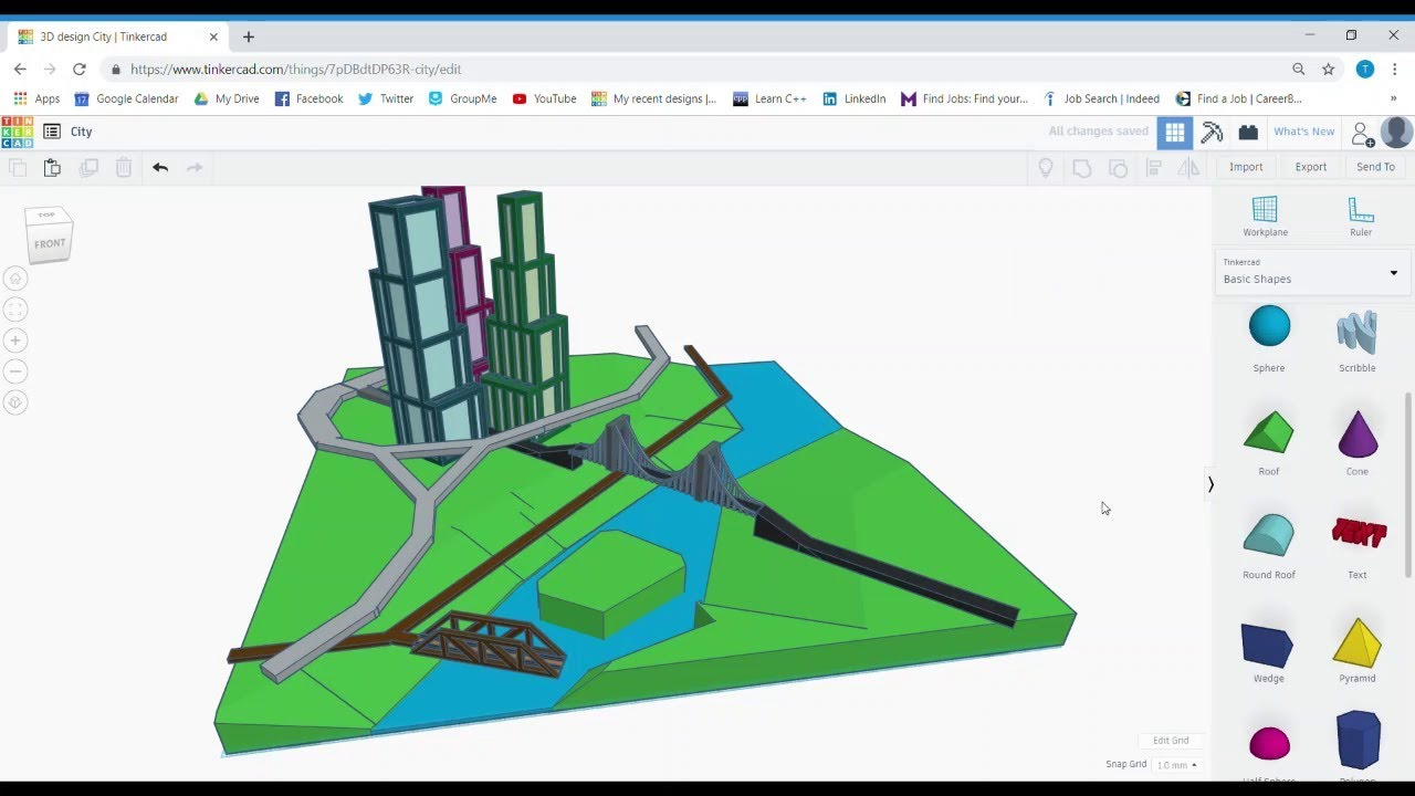 Tinkercad city planning part 4