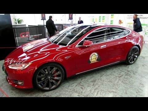 2014 Tesla Model S P85+ Exterior Walkaround - 2014 Geneva Motor Show
